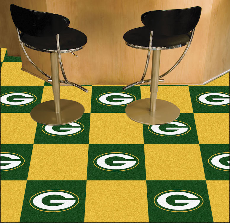 Green Bay Packers Carpet Tiles 18x18 in.
