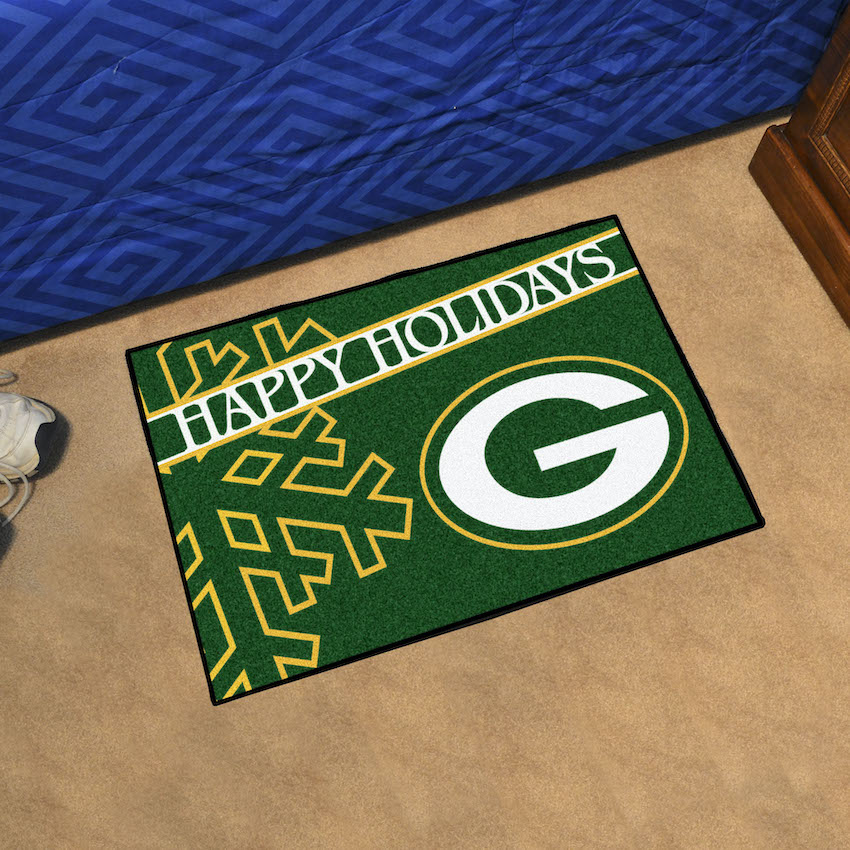 Green Bay Packers Holiday Floor Mat