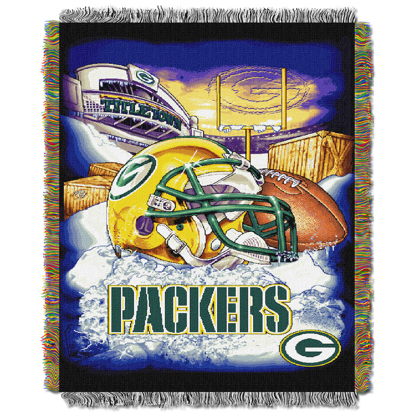 Green Bay Packers Home Field Advantage Series Tapestry Blanket 48 x 60