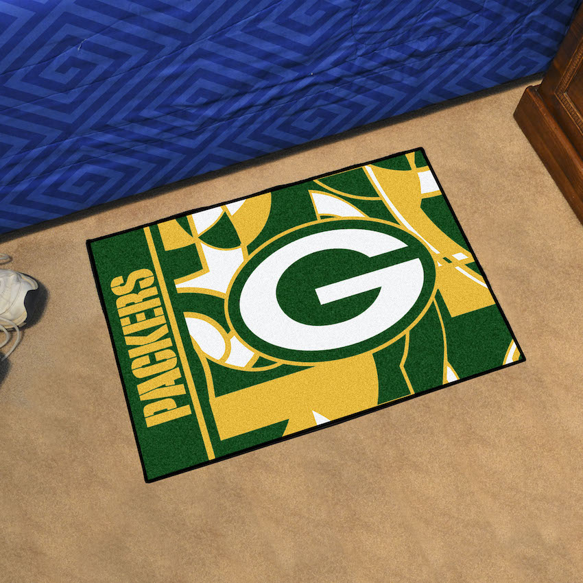 Green Bay Packers 20 x 30 Quick Snap Starter Floor Mat