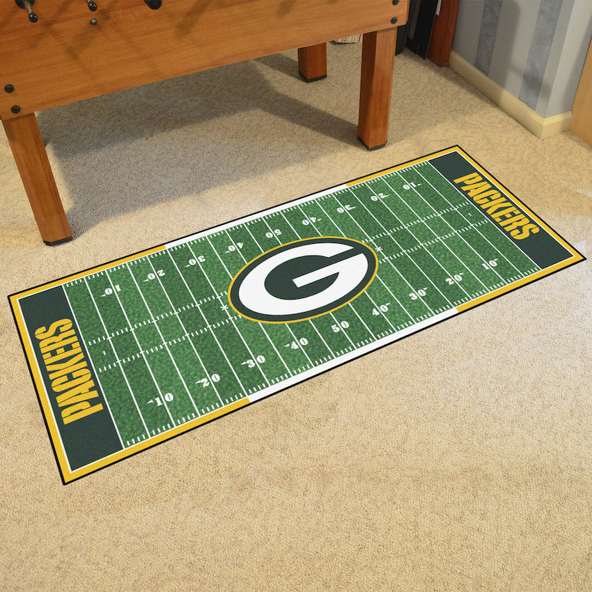 Green Bay Packers 30 x 72 Football Field Carpet Runner