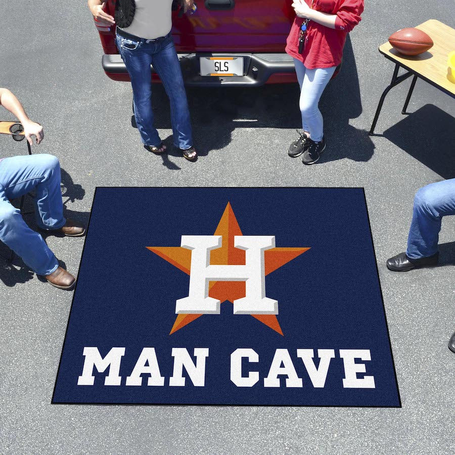 Houston Astros MAN CAVE TAILGATER 60 x 72 Rug