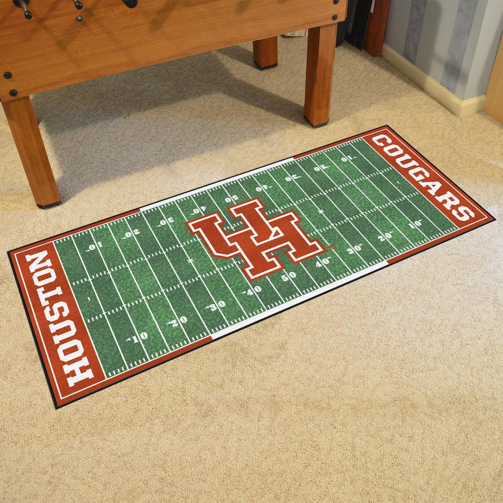 Houston Cougars Football Field Runner 30 X 72 Floor Mat