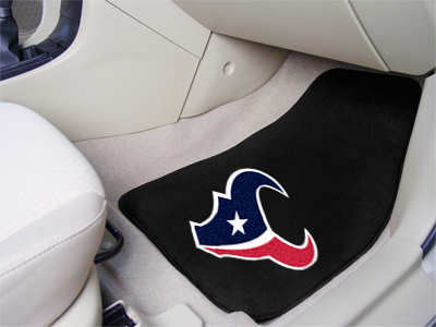 Houston Texans Car Floor Mats 18 x 27 Carpeted-Pair