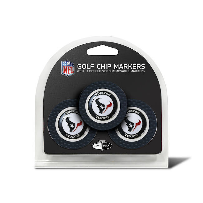 Houston Texans 3 Pack Golf Chips