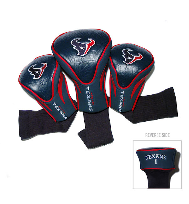 Houston Texans 3 Pack Contour Headcovers