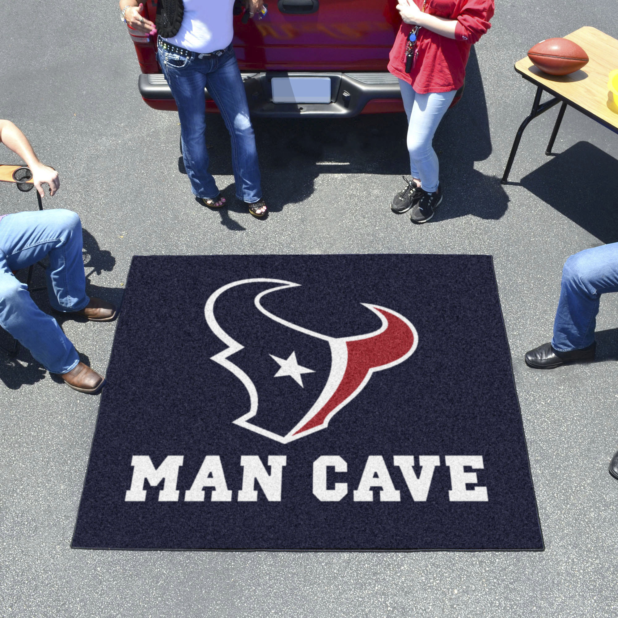 Houston Texans MAN CAVE TAILGATER 60 x 72 Rug