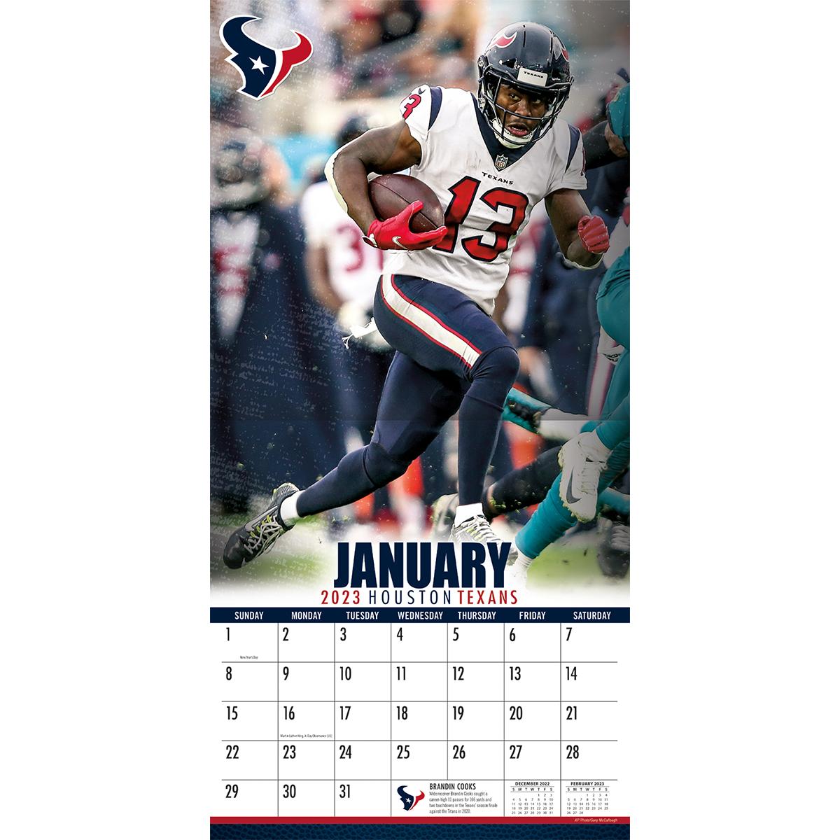 Houston Texans 2018 Nfl Wall Calendar Buy At Khc Sports