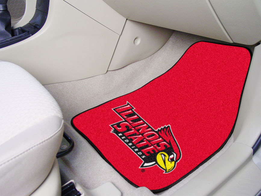 Illinois State Redbirds Car Floor Mats 18 x 27 Carpeted-Pair