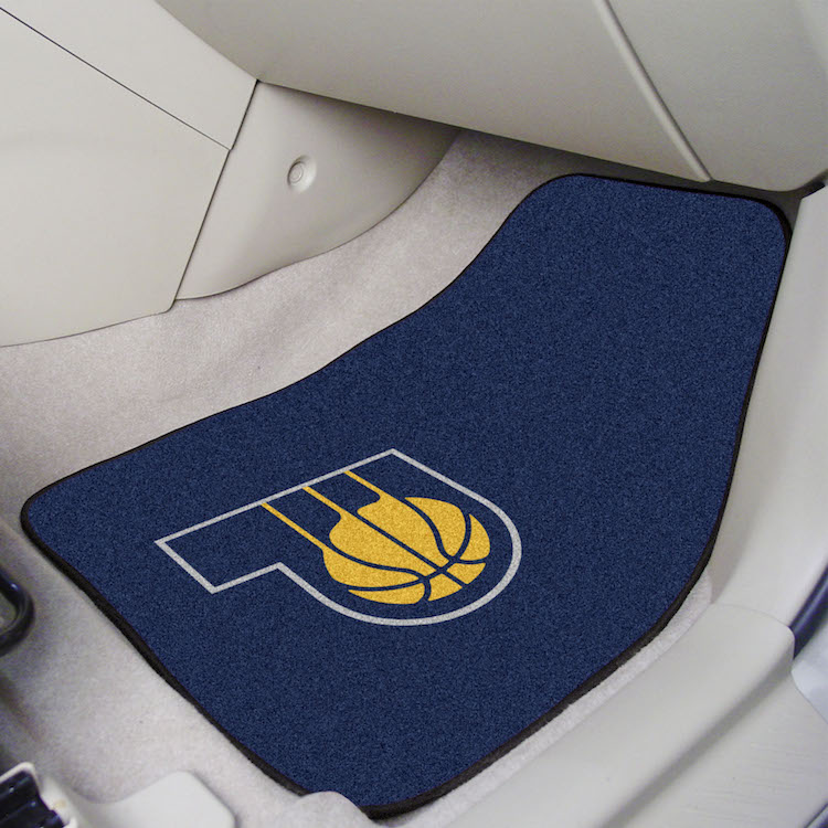 Indiana Pacers Car Floor Mats 18 x 27 Carpeted-Pair