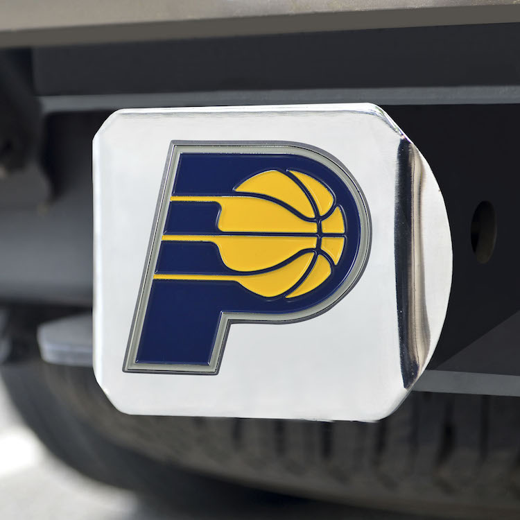 Indiana Pacers Color Chrome Trailer Hitch Cover