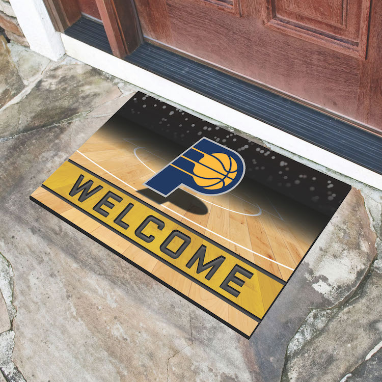 Indiana Pacers Recycled Crumb Rubber Door Mat