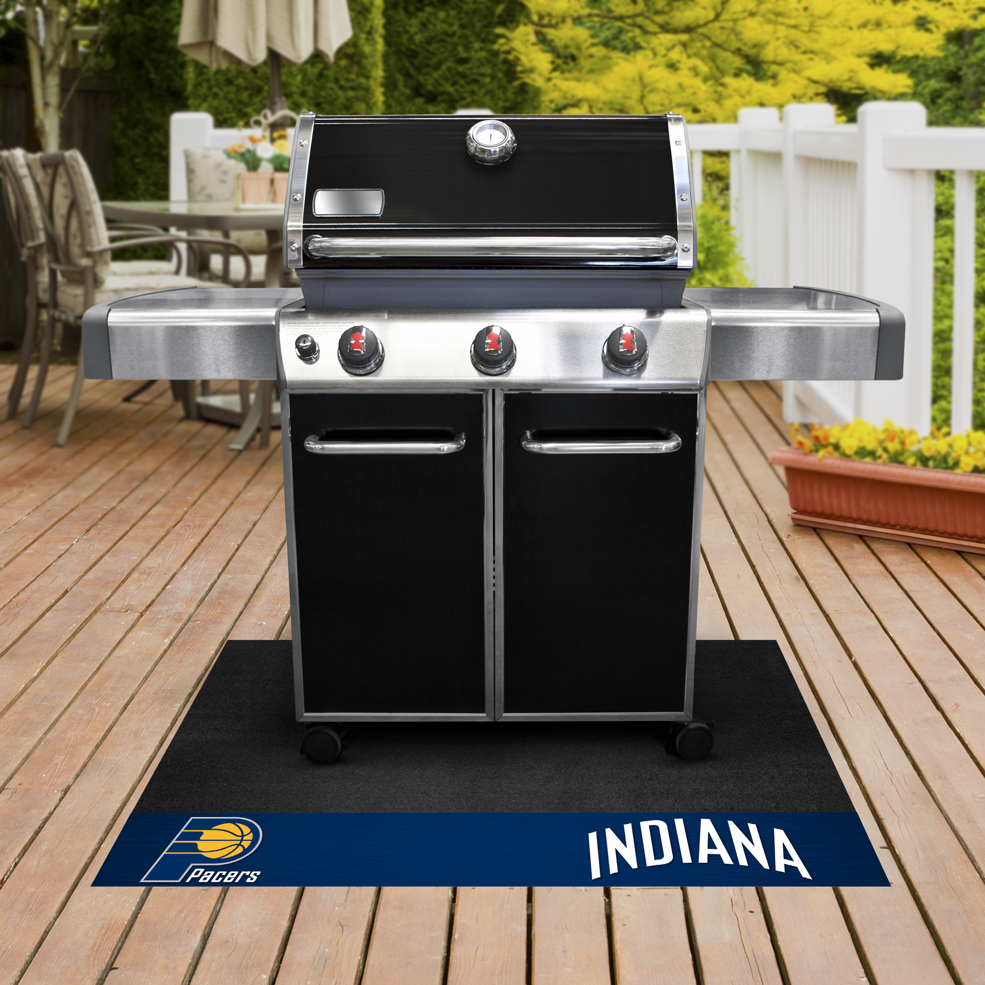 Indiana Pacers NBA Grill Mat