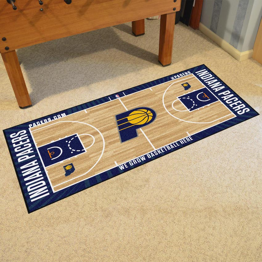 Indiana Pacers 30 x 54 LARGE Basketball Court Carpet Runner
