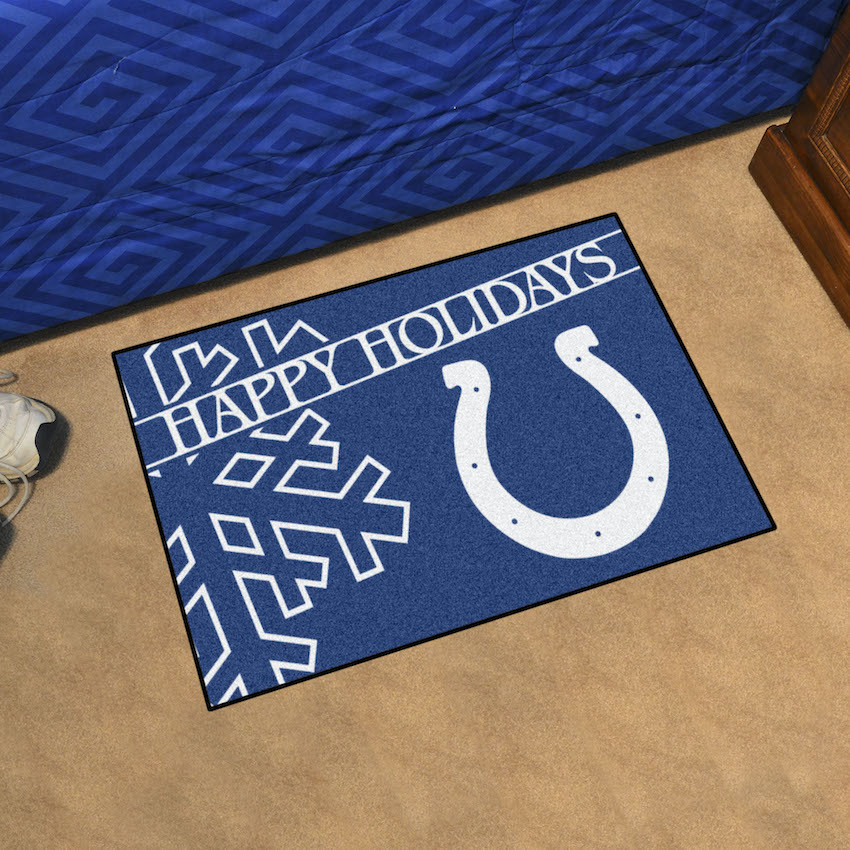Indianapolis Colts Holiday Floor Mat