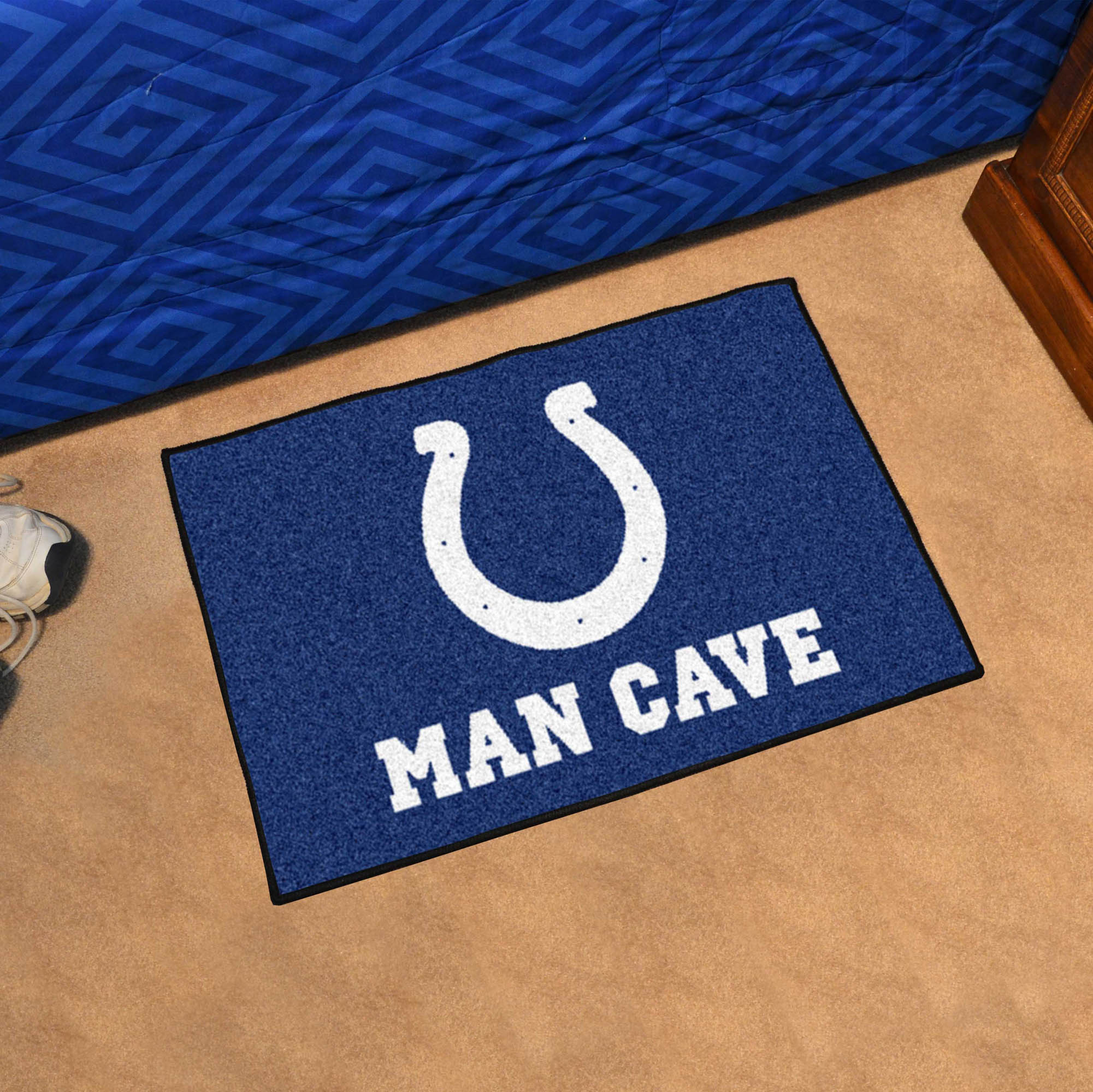 Indianapolis Colts MAN CAVE 20 x 30 STARTER Floor Mat