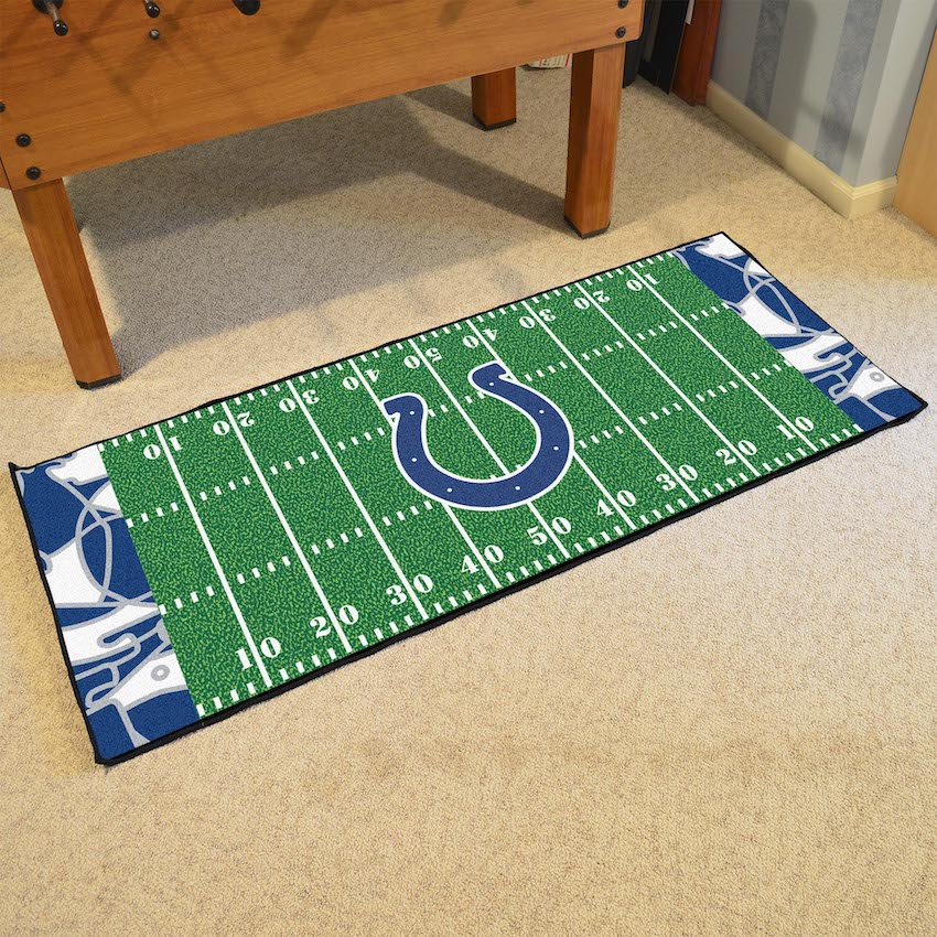 Indianapolis Colts 30 x 72 Quick Snap Football Field Carpet Runner