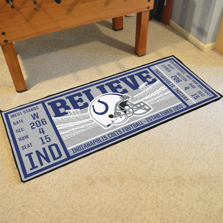 Indianapolis Colts 30 x 72 Game Ticket Carpet Runner