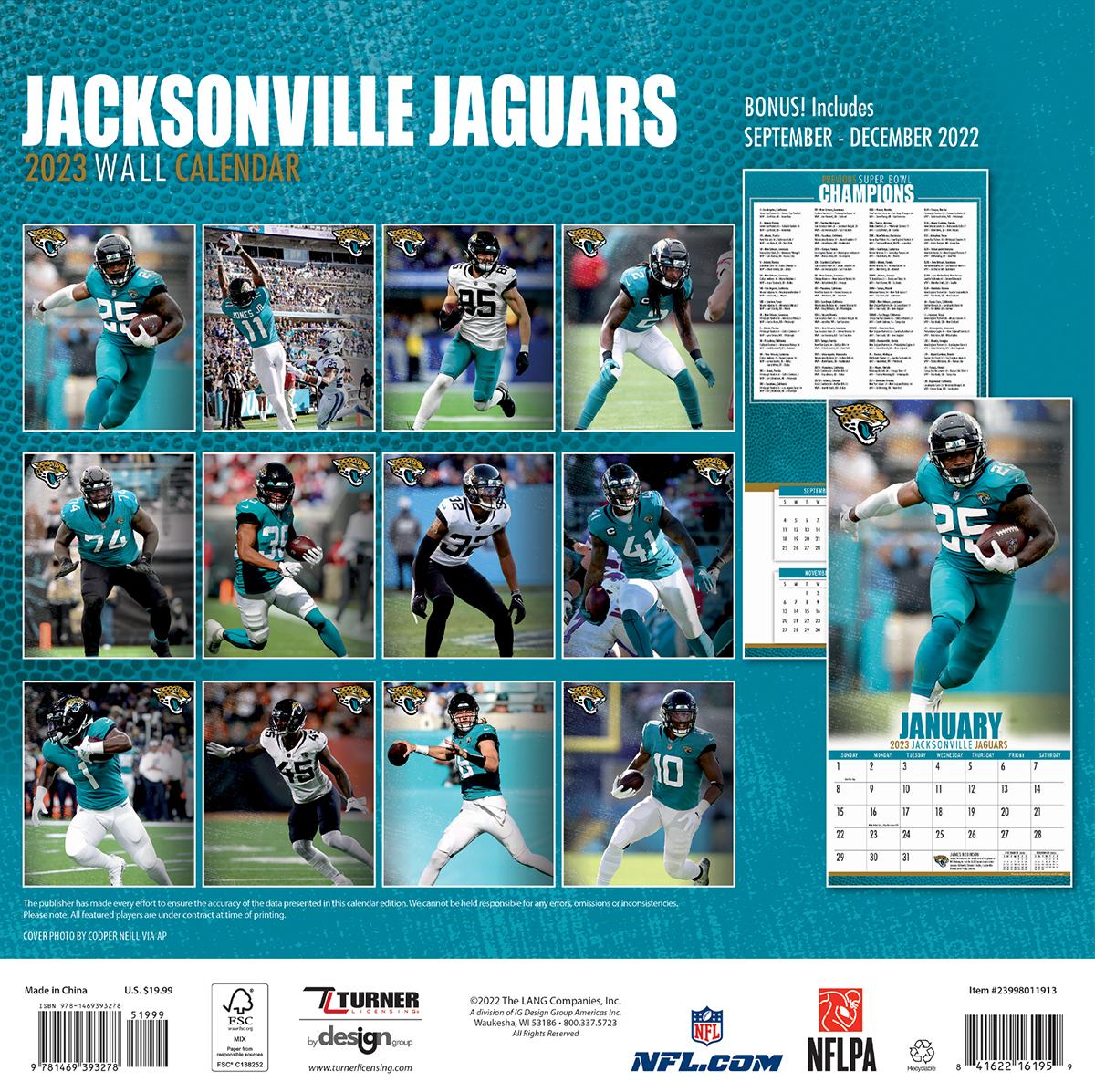 Jacksonville Jaguars 2018 Nfl Wall Calendar Buy At Khc