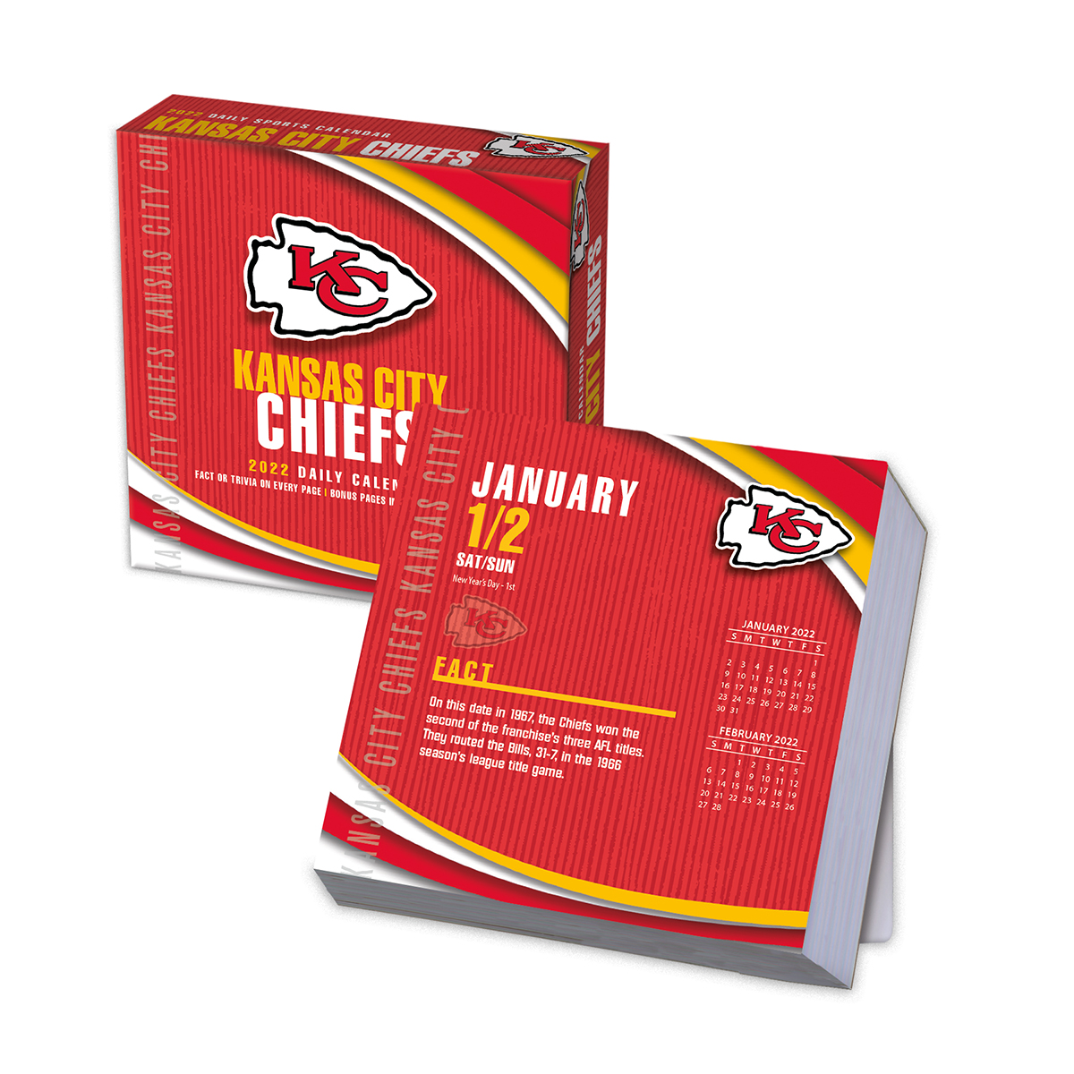 Kansas City Chiefs 2019 Nfl Page A Day Box Calendar Buy
