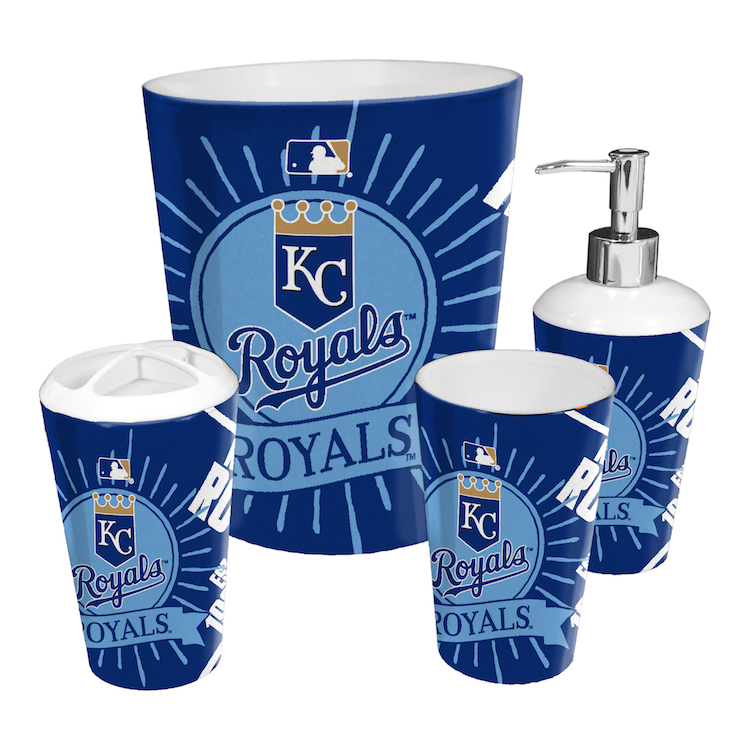 Kansas City Royals 4 Piece Bathroom Accessory Set Buy At
