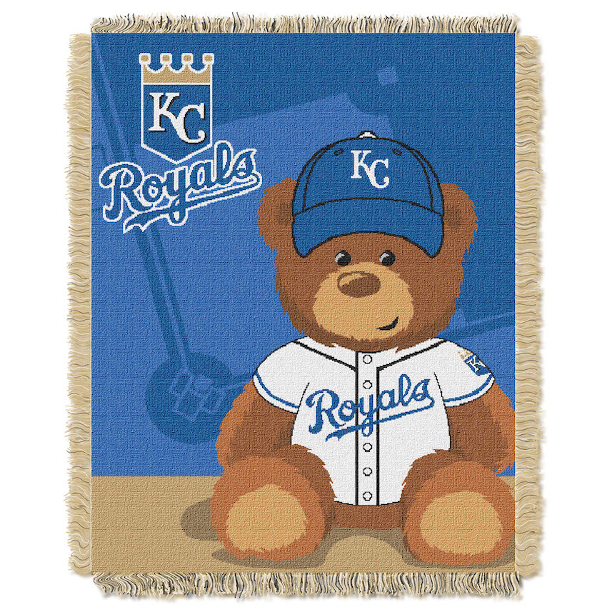 Kansas City Royals Woven Baby Blanket 36 x 48