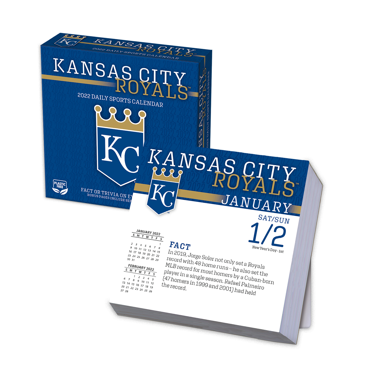 Kansas City Royals 2018 Page A Day Box Calendar Buy At