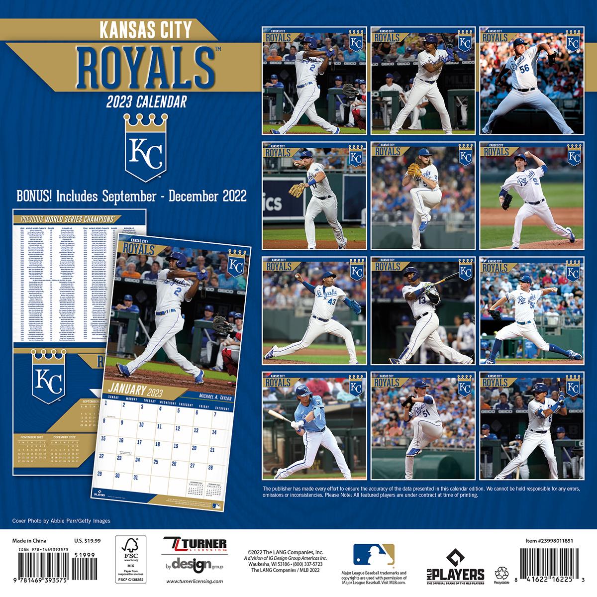 Kansas City Royals 2018 Wall Calendar Buy At Khc Sports