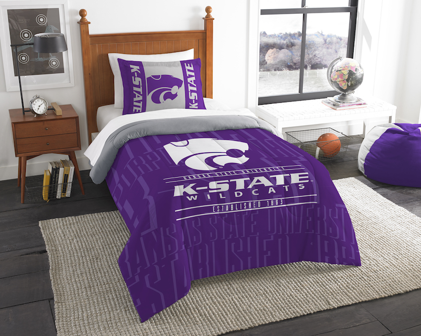 Kansas State Wildcats Twin Comforter Set with Sham