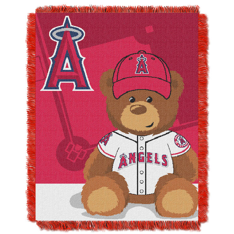 Los Angeles Angels Woven Baby Blanket 36 x 48
