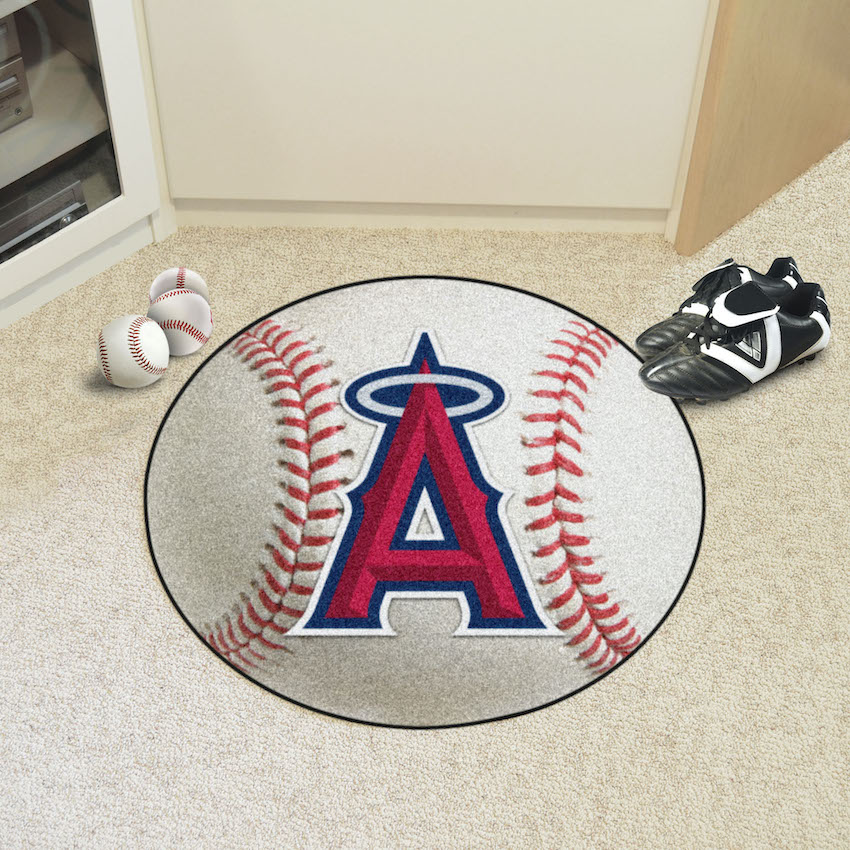 Los Angeles Angels Round Baseball Mat