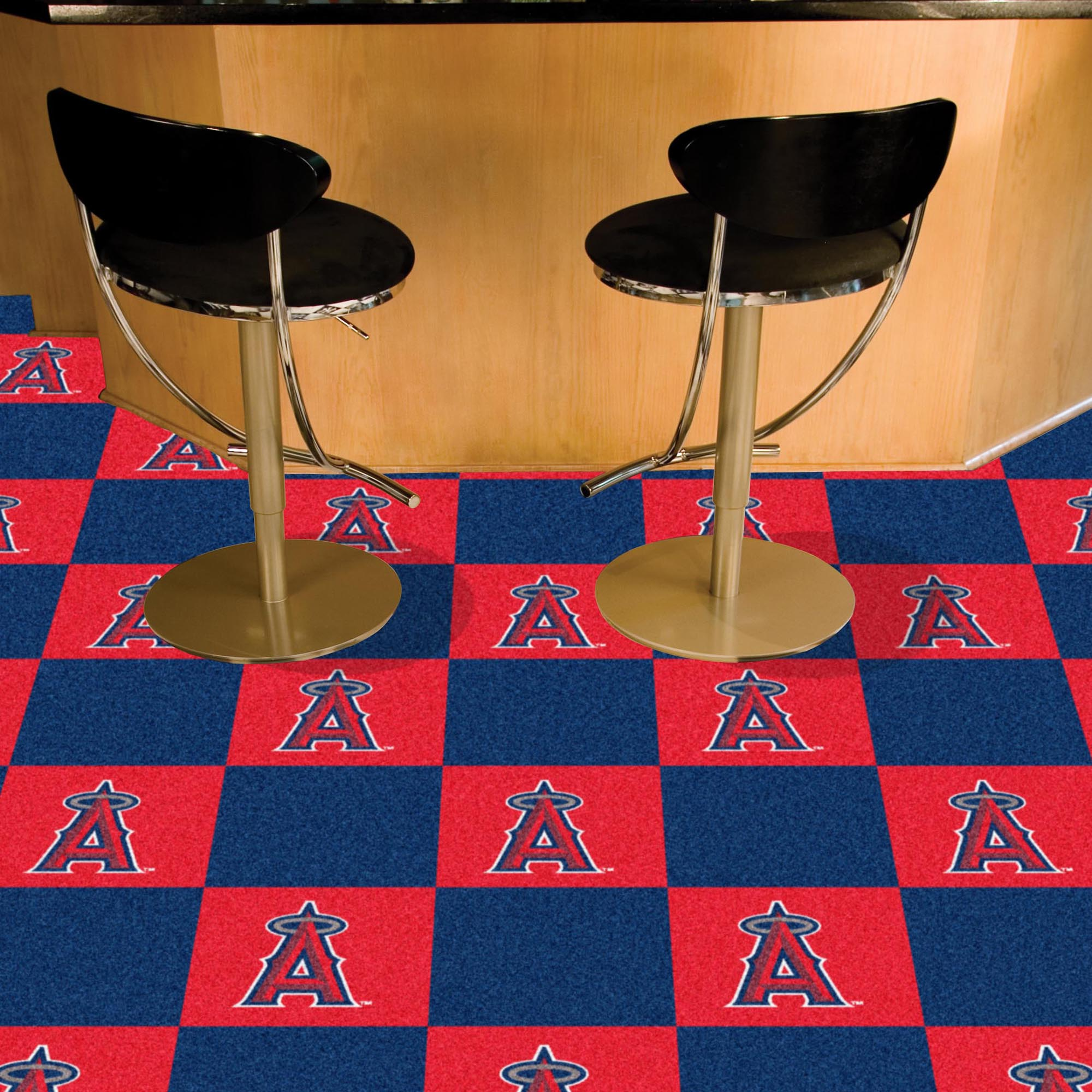 Los Angeles Angels Carpet Tiles 18x18 in.
