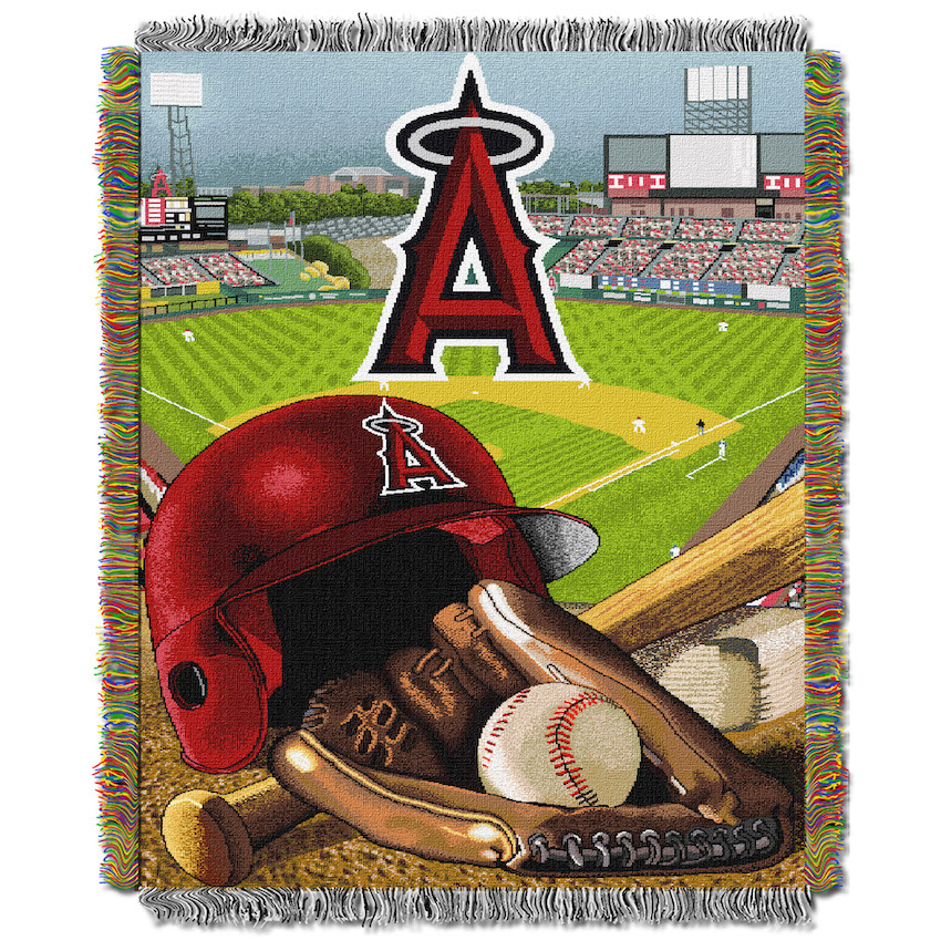 Los Angeles Angels Home Field Advantage Series Tapestry Blanket 48 x 60