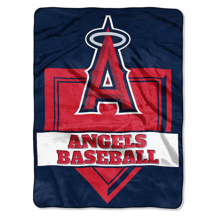 Los Angeles Angels Large Plush Fleece HOME PLATE 60 x 80 Blanket