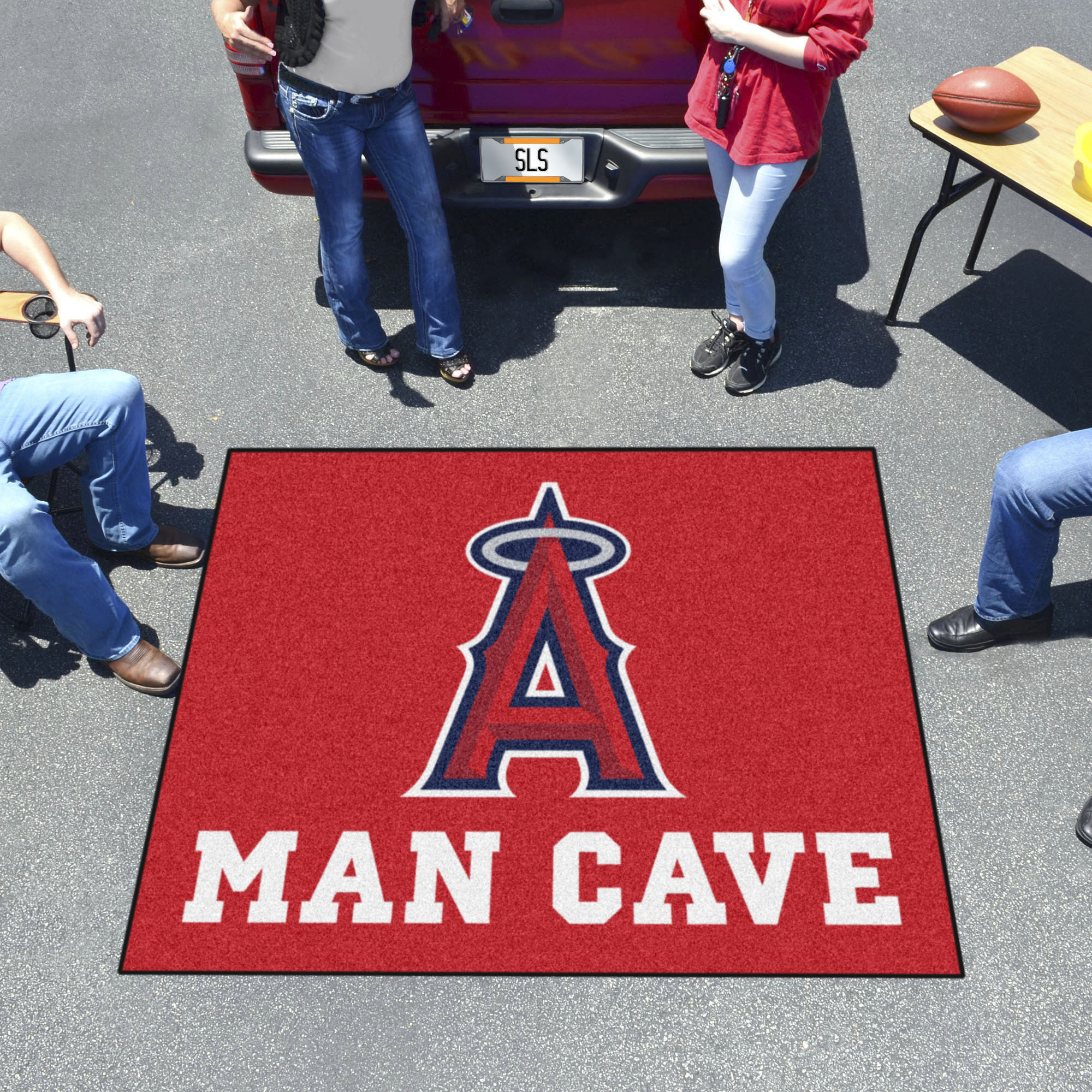 Los Angeles Angels MAN CAVE TAILGATER 60 x 72 Rug