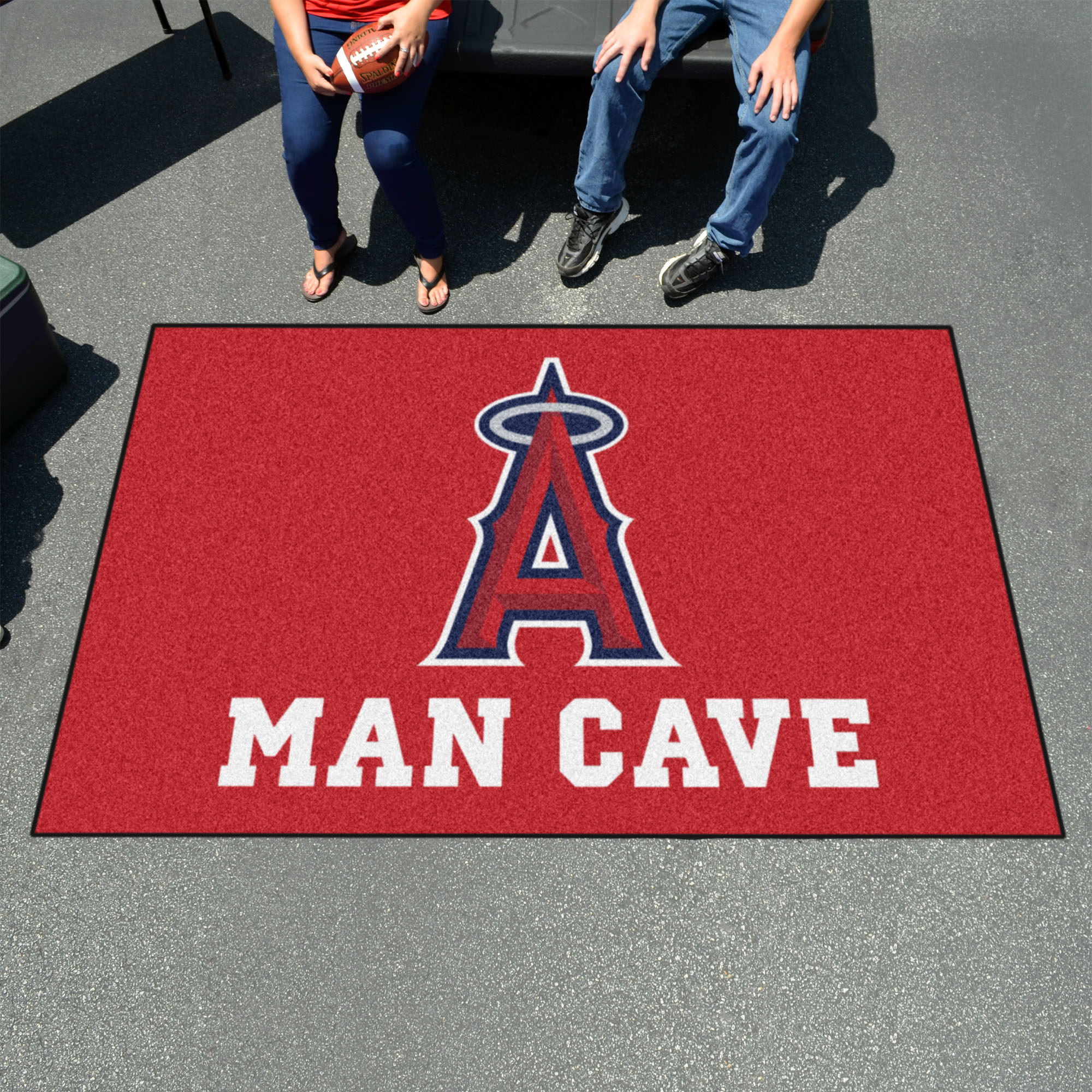 Los Angeles Angels UTILI-MAT 60 x 96 MAN CAVE Rug