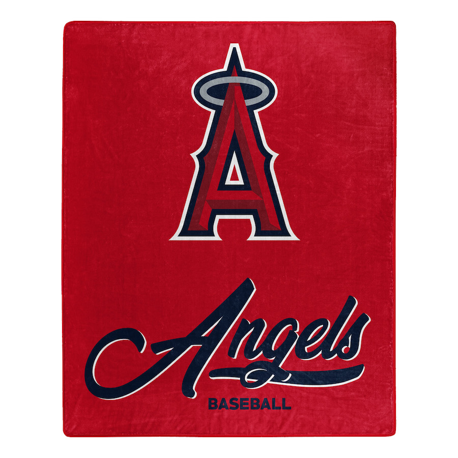 Los Angeles Angels Plush Fleece Raschel Blanket 50 x 60