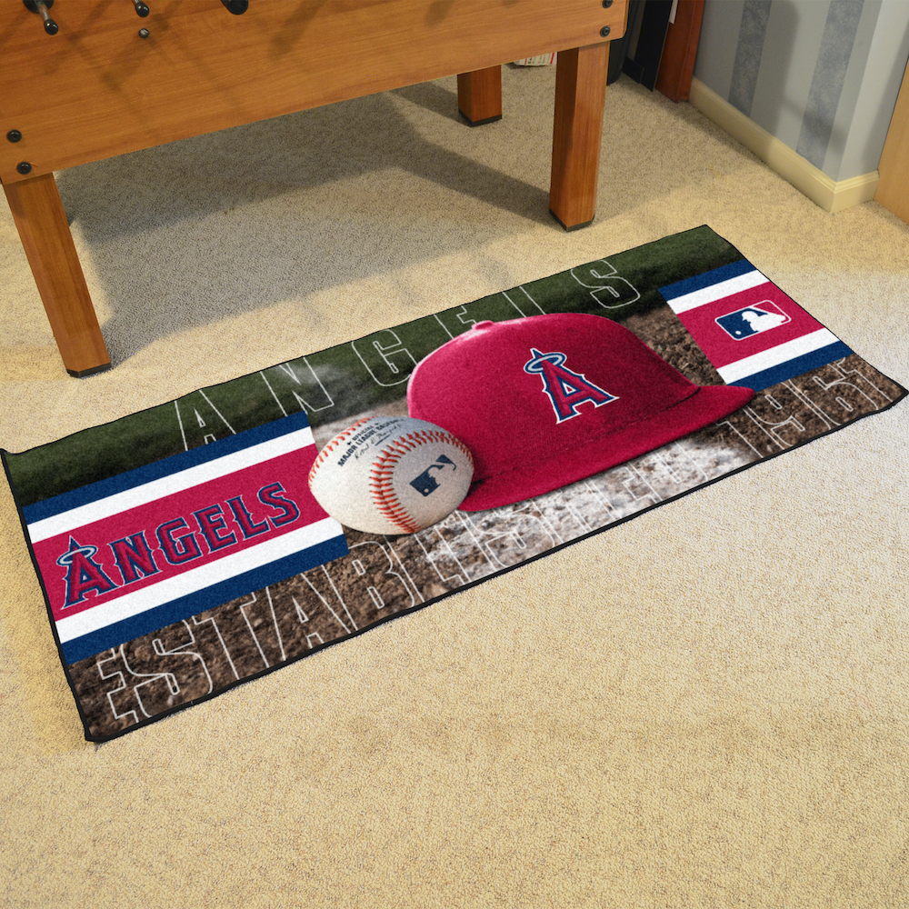 Los Angeles Angels 30 x 72 Baseball Carpet Runner