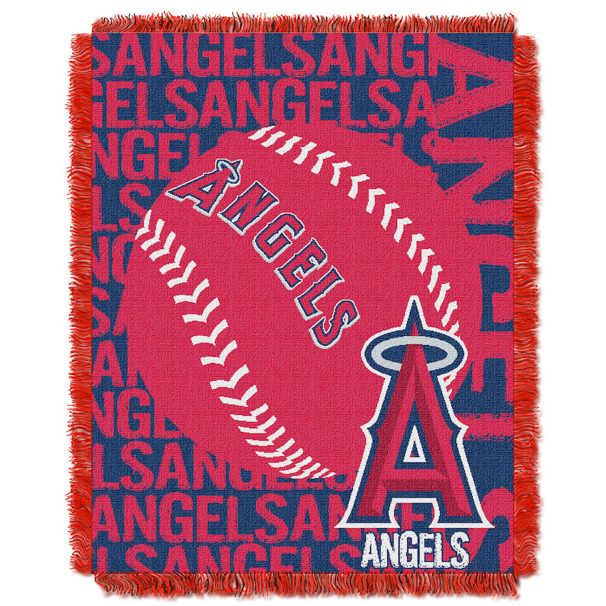 Los Angeles Angels MLB Double Play Tapestry Blanket 48 x 60