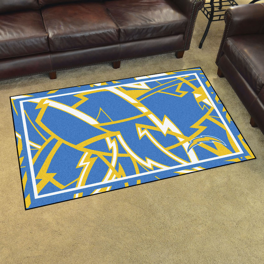Los Angeles Chargers 4x6 Quick Snap Area Rug