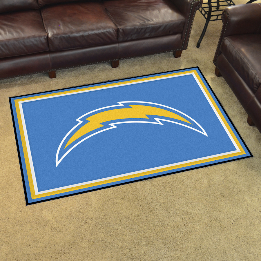 Los Angeles Chargers 4x6 Area Rug