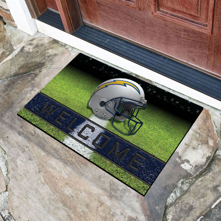 Los Angeles Chargers Recycled Crumb Rubber Door Mat