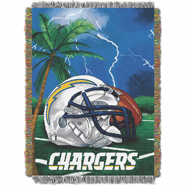Los Angeles Chargers Home Field Advantage Series Tapestry Blanket 48 x 60