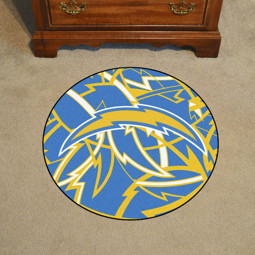 Los Angeles Chargers Quick Snap Roundel Mat