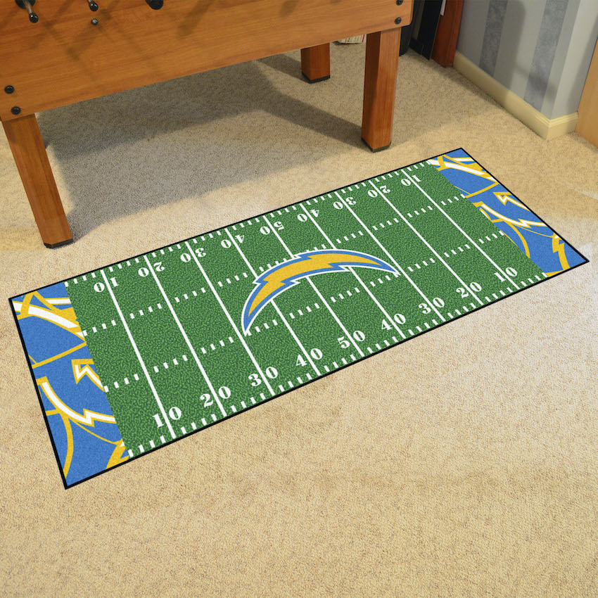 Los Angeles Chargers 30 x 72 Quick Snap Football Field Carpet Runner