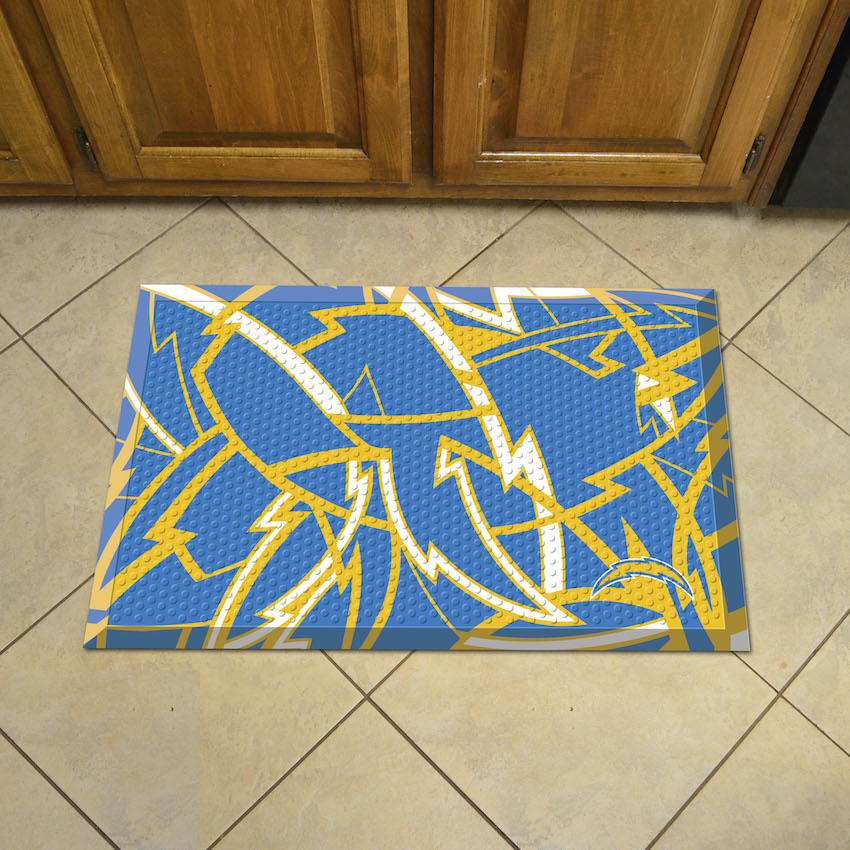 Los Angeles Chargers Quick Snap Style SCRAPER Door Mat