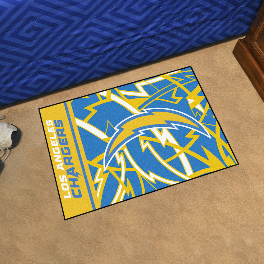 Los Angeles Chargers 20 x 30 Quick Snap Starter Floor Mat