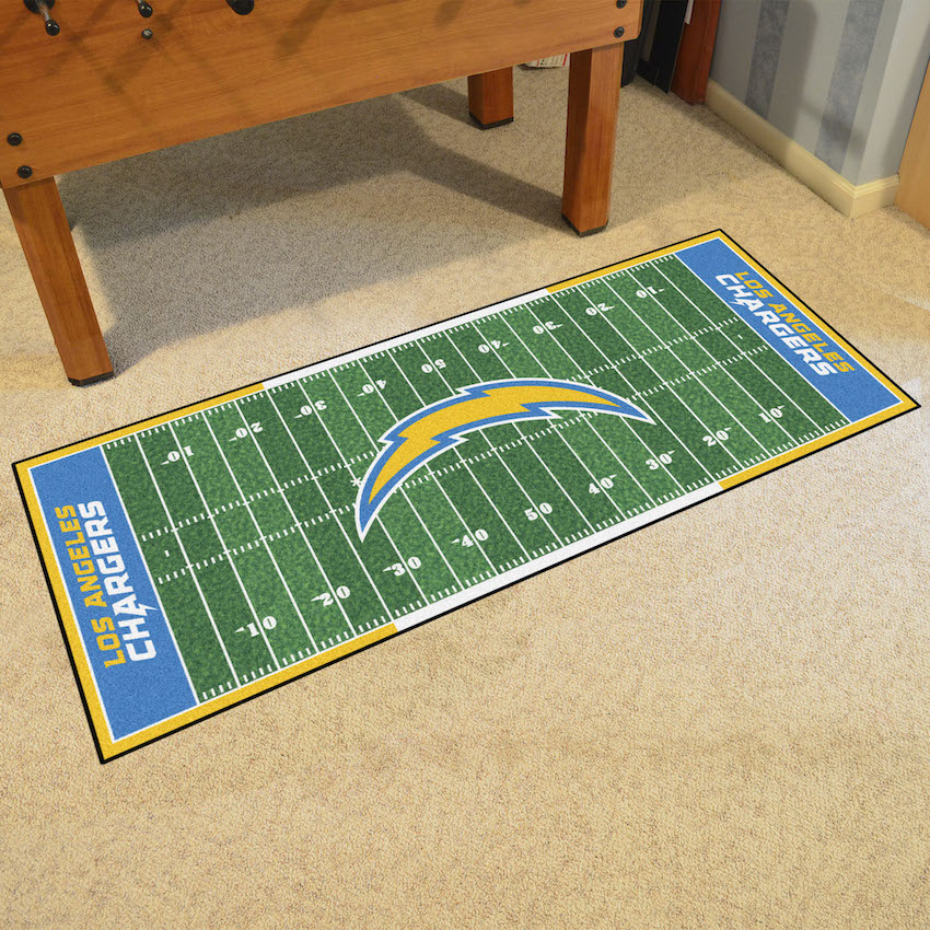 Los Angeles Chargers 30 x 72 Football Field Carpet Runner