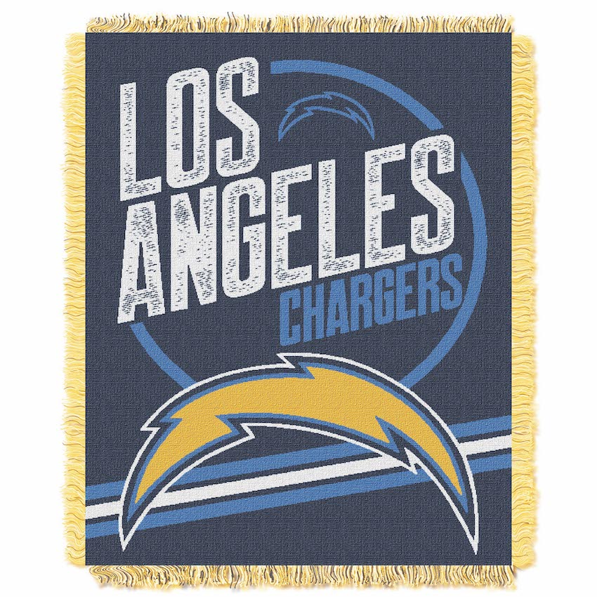 Los Angeles Chargers Double Play Tapestry Blanket 48 x 60