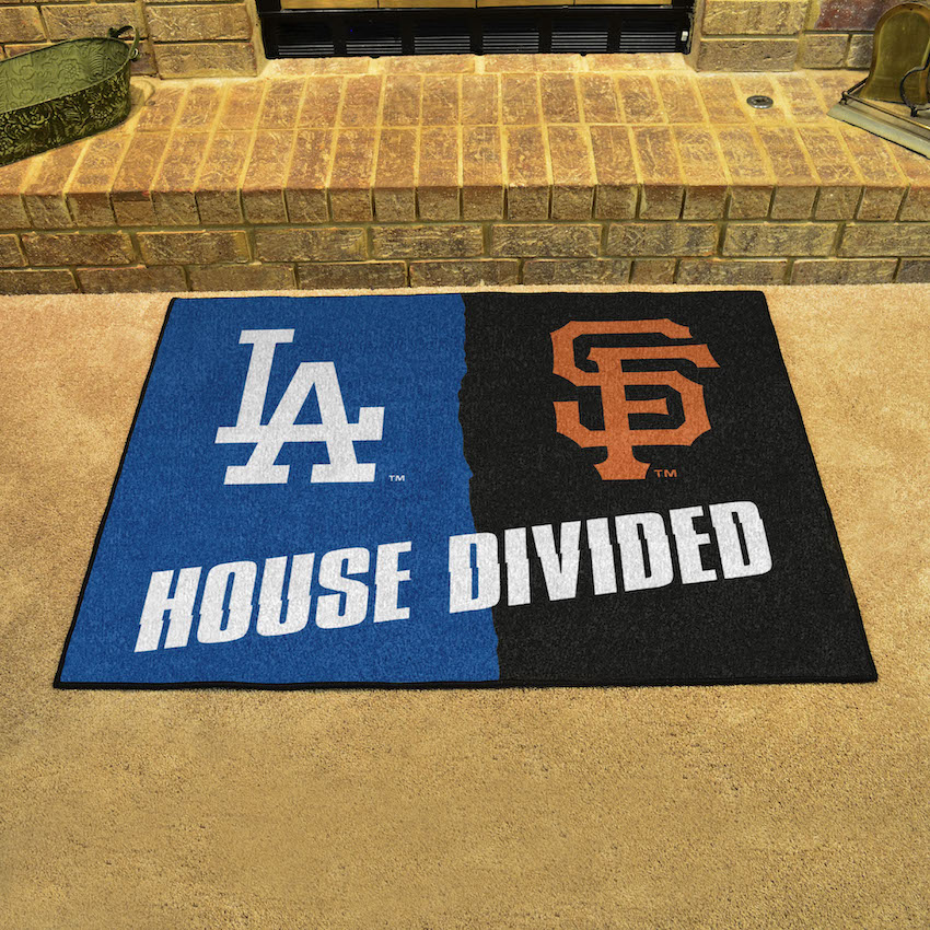 MLB House Divided Rivalry Rug Los Angeles Dodgers - San Francisco Giants